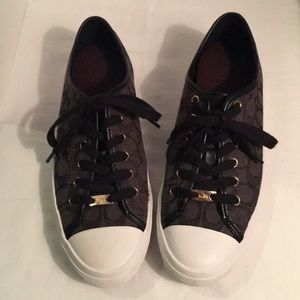 Coach Empire A00248 Signature Brown Sneakers.